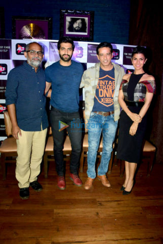 Nimrat Kaur and the cast of The Test Case snapped promoting their web series