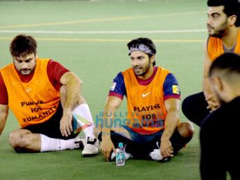 Ranbir Kapoor, Varun Dhawan, Arjun Kapoor snapped at a soccer match