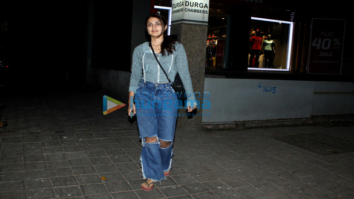 Rhea Chakraborty spotted at Ramesh Torani's office in Khar