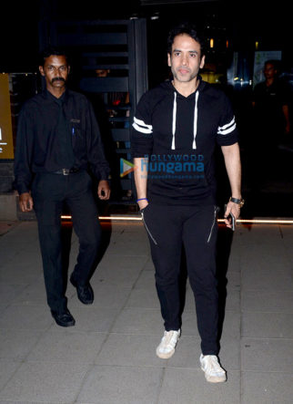 Tusshar Kapoor snapped with his new car