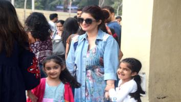 Twinkle Khanna snapped with Nitara at PVR, Juhu