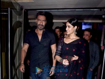 Ajay Devgn and Ileana D'Cruz grace the trailer launch of 'Raid'