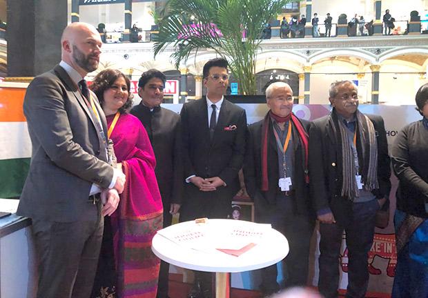 Karan Johar poses for the cameras at the Berlin International Film Festival