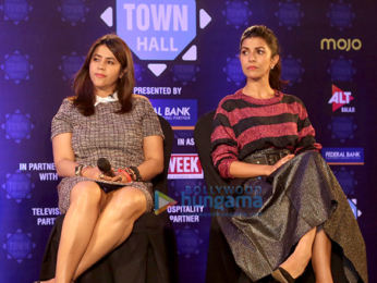 Nimrat Kaur and Ekta Kapoor grace The Town Hall hosted by Barkha Dutt