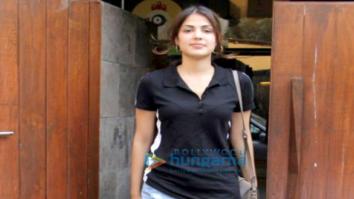 Rhea Chakraborty spotted at Indigo Cafe in Bandra