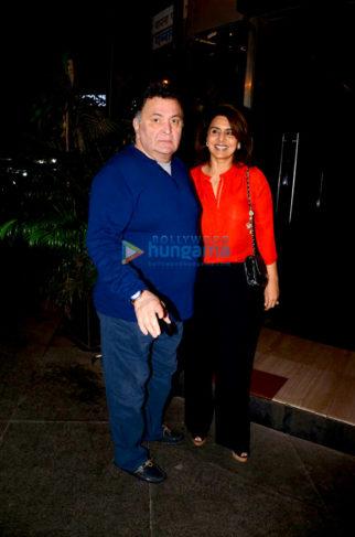 Rishi Kapoor, Neetu Kapoor, Karisma Kapoor and others grace Randhir Kapoor's birthday bash in Bandra