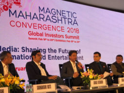 Shah Rukh Khan and Ritesh Sidhwani represent the entertainment industry at the Magnetic Maharashtra Convergence Summit