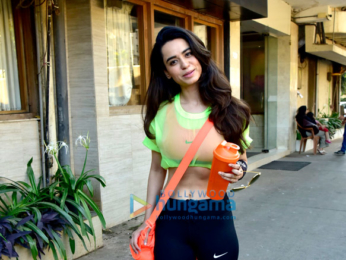 Soundarya Sharma snapped at the gym