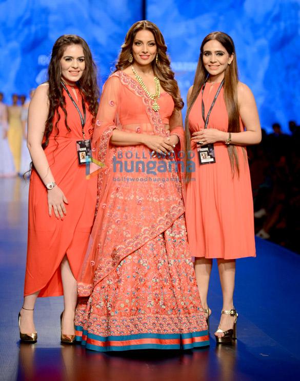 Bipasha Basu snapped walking the ramp for designer Karishma Deepa Sondhi at the Amazon Fashion Week