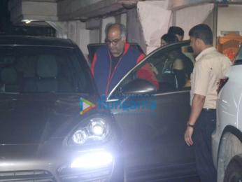 Boney Kapoor and family snapped at Arjun Kapoor's house