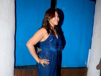 Kangana Ranaut and Ekta Kapoor snapped at Olive in Bandra