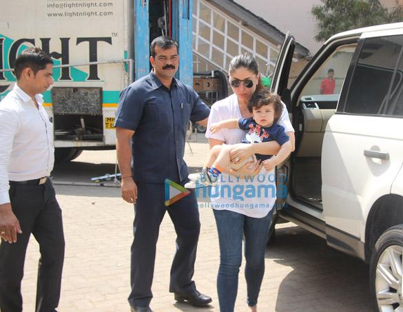 Kareena Kapoor Khan and Taimur Ali Khan snapped at Mehboob Studio