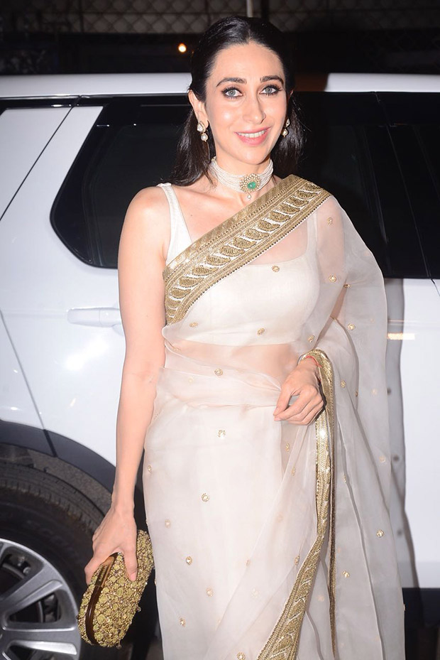 Karisma Kapoor ups the look with minimal accessories and subtle makeup