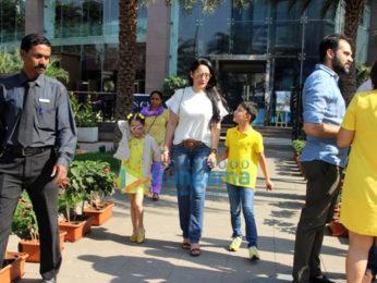 Madhuri Dixit, Manyata Dutt with family spotted at Yauatcha, BKC