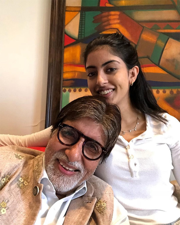 SELFIE ALERT: Amitabh Bachchan and Navya Naveli Nanda can't stop smiling in this picture