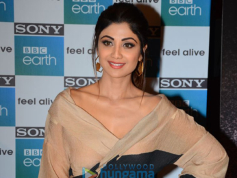 Shilpa Shetty attends the first anniversary bash of Sony BBC Earth