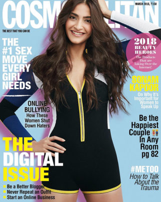 Sonam Kapoor on March 2018 edition of Cosmopolitan