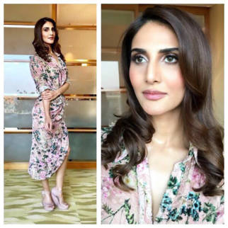 Vaaani Kapoor in Hemant and Nandita floral dress