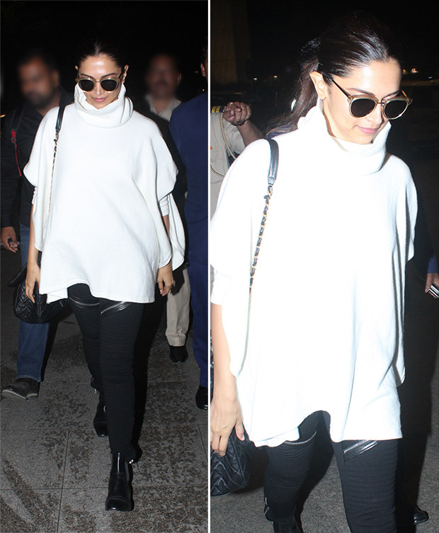 Weekly Airport Style: Deepika Padukone in monochrome casuals