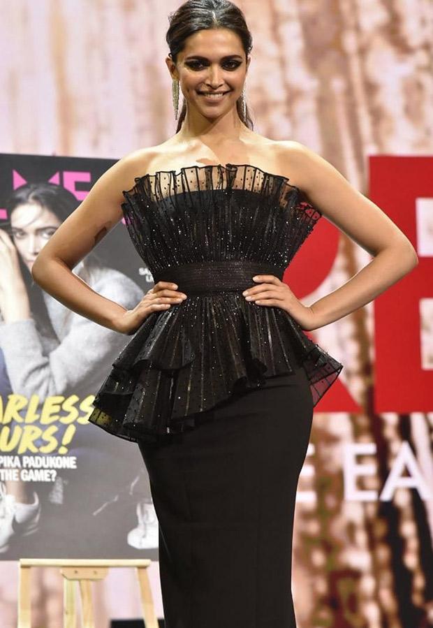 Deepika Padukone looks fierecely feminine at Filmfare Middle East Relaunch