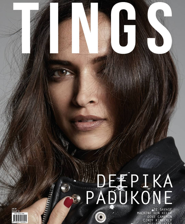 Deepika Padukone looks like a goddess on the cover of Tings London