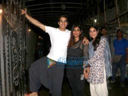 Janhvi Kapoor, Ishaan Khatter, Boney Kapoor and Shashank Khaitan spotted after Dhadak wrap up