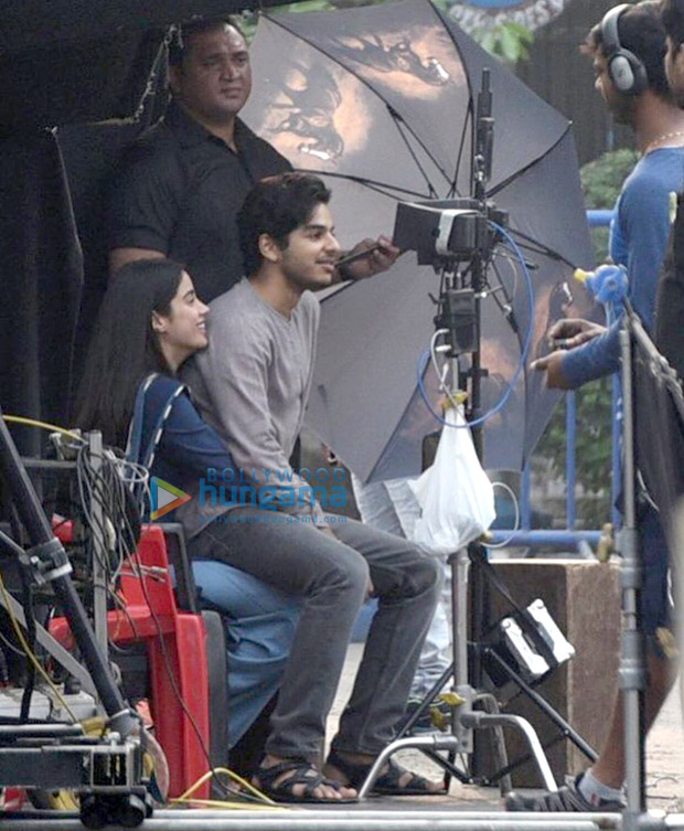Janhvi Kapoor and Ishaan Khatter spark dating rumours after holding hands on the sets of Dhadak