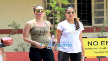 Kareena Kapoor Khan, Kunal Khemu and Amrita Arora spotted at the gym in Bandra