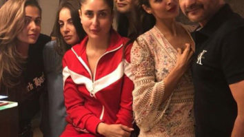 Kareena Kapoor Khan looks as happy as the Easter bunny with Malaika Arora, Amrita Arora and Karan Johar