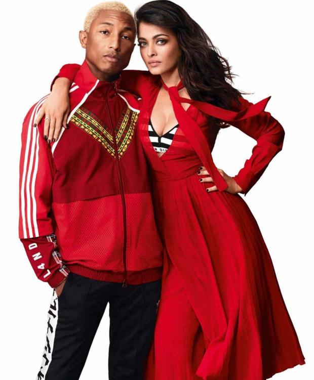 Red Alert - Aishwarya and Pharrell for Vogue India