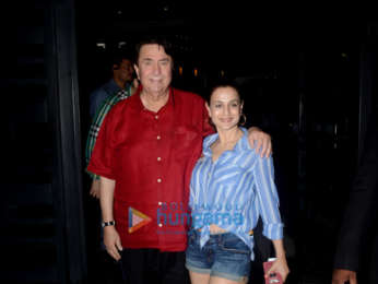 Ameesha Patel and Randhir Kapoor snapped at BKC
