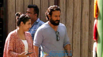 Saif Ali Khan snapped shooting for an ad in Juhu