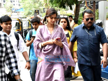 Sonam Kapoor Ahuja snapped at Veere Di Wedding promotions