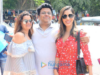 Sophie Choudry snapped with producer Tanuj Garg