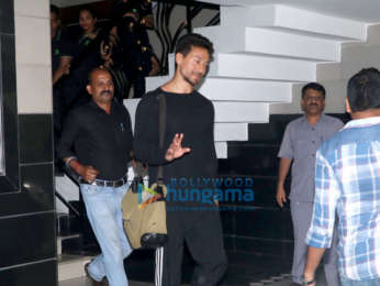 Tiger Shroff snapped outside a clinic in Bandra