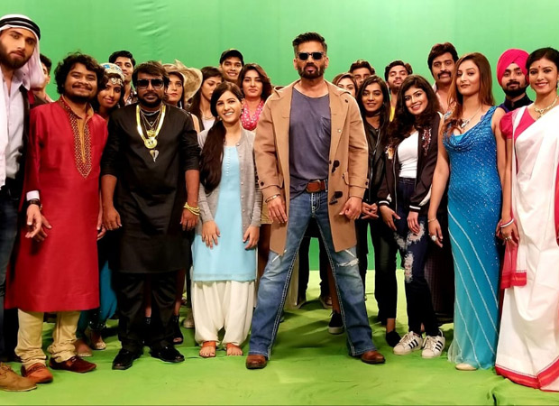 After 18 years, Suniel Shetty not only has taken up singing but also rapping