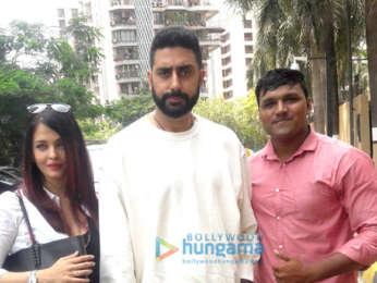 Aishwarya Rai Bachchan and Abhishek Bachchan snapped at BKC