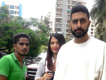 Aishwarya Rai Bachchan and Abhishek Bachchan snapped at BKC