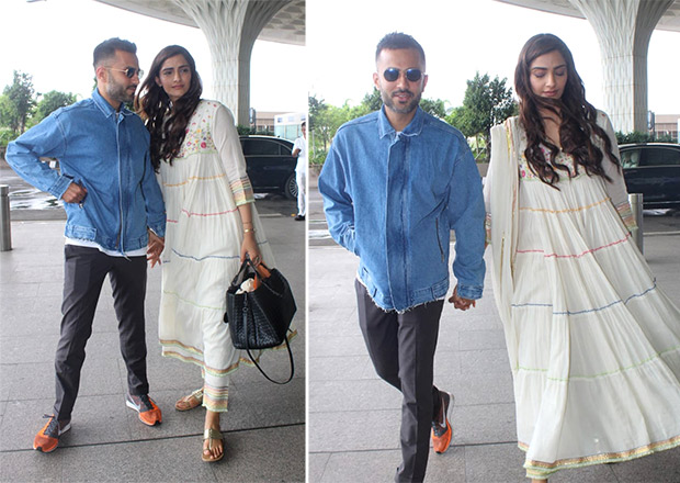 Celebrity Airport Style - Sonam K Ahuja and Anand S Ahuja