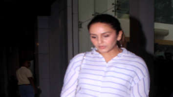 Huma Qureshi spotted at Siddhrth Roy Kapoor's office in Khar