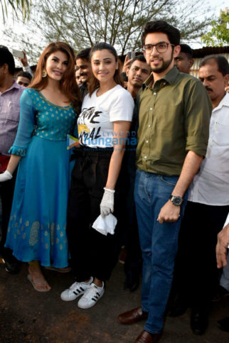 Jacqueline Fernandez, Juhi Chawla and Daisy Shah grance a tree plantation event on World Environment Day