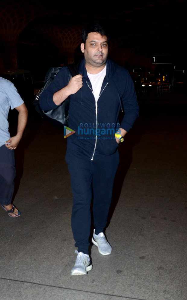 Kapil Sharma looks unrecognizable as he makes a rare appearance at the airport