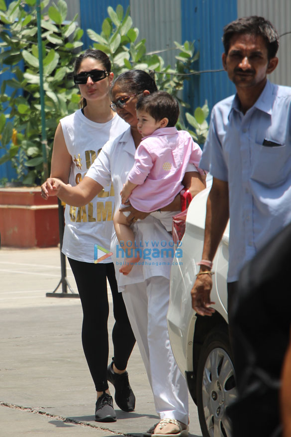 Kareena Kapoor Khan snapped with Taimur Ali Khan at the gym