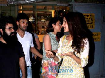 Rakul Preet Singh and Rhea Chakraborty snapped at Kitchen Garden in Bandra