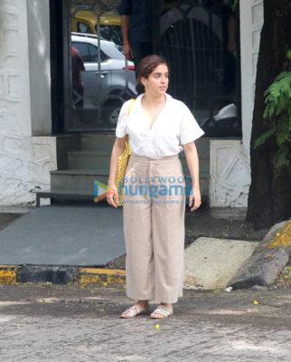 Sanya Malhotra snapped at The Korner House