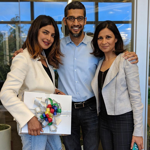 WOW! Priyanka Chopra meets Google CEO Sundar Pichai