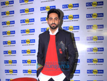 Ayushmann Khurrana snapped visiting the 92.7 Big FM office