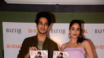 Janhvi Kapoor and Ishaan Khatter snapped at the cover launch of Harper's Bazaar
