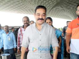 Kamal Haasan, Janhvi Kapoor and Ishaan Khatter snapped at the airport