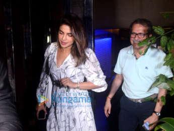 Priyanka Chopra and Elli Avram spotted at Dr. Sandesh Mayekar Dental Clinic